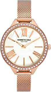 Kenneth Cole Women's Classic Mesh KC50939002 Rose-Gold Stainless-Steel Quartz Dress Watch