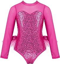 Freebily Body Ginnastica Artistica Bambina Senza Maniche Leopardo Leotards Balletto Tuta Sportiva Ballerina Vestito Danza Classica Dancewear Abito da Ballo Moderno Latino