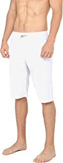 Men's Casual Classic Fit Shorts Drawstring Summer Beach Linen Shorts
