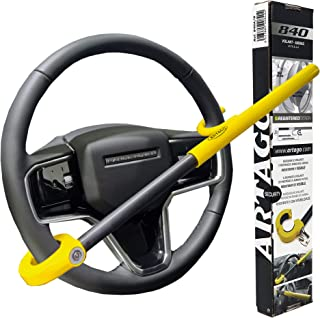 ARTAGO 840A/B Premium Steering Wheel Lock, 2 in 1 Airbag Protection, Screw Adjustment, Universal for car SUV Van Truck. Op...