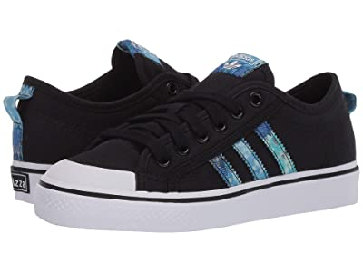adidas Originals Kids Nizza (Big Kid) (Black/Collegiate Royal/White) Kids Shoes