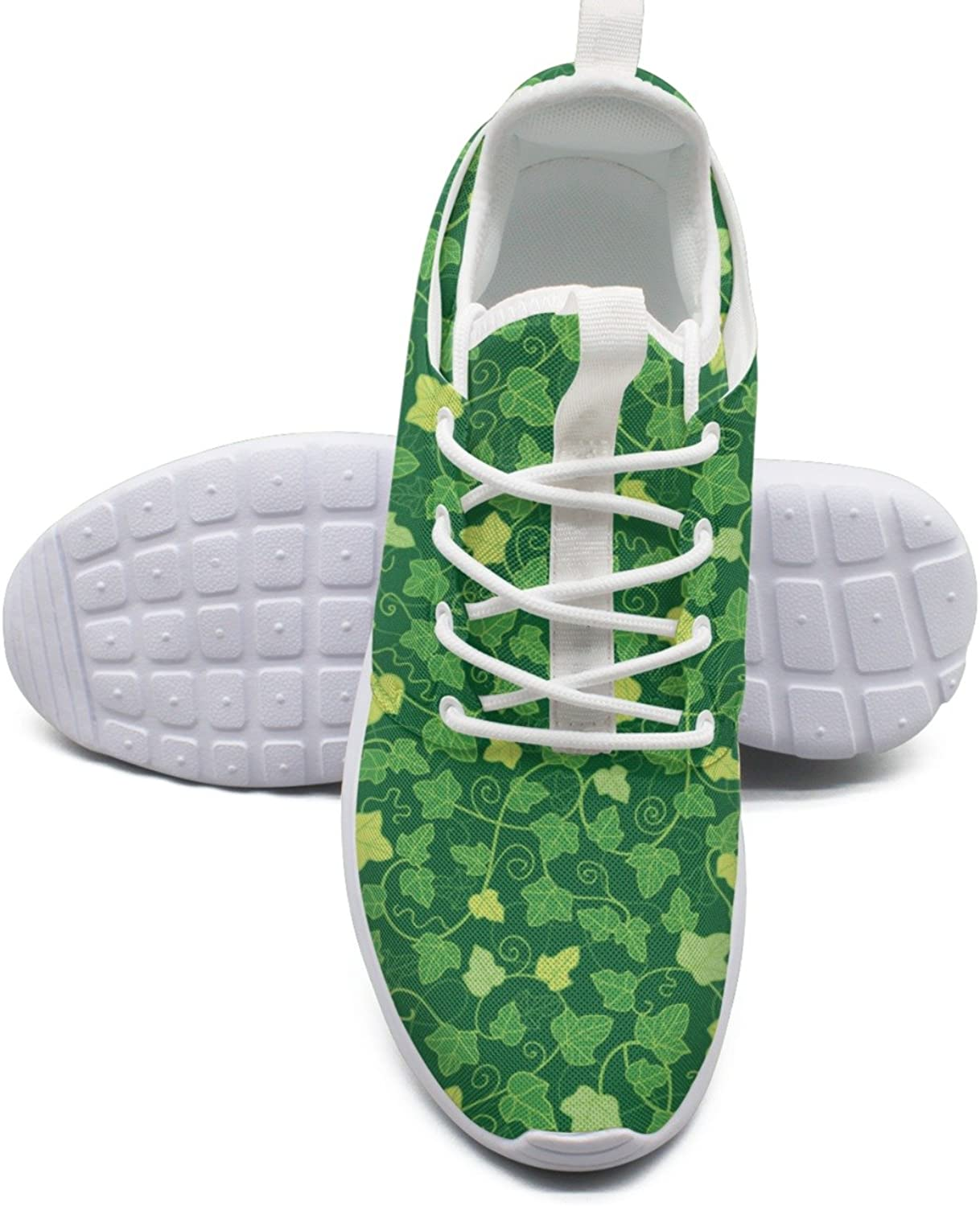 ERSER Artificial Green Ivy Planter Printed Lace-up Running shoes Women