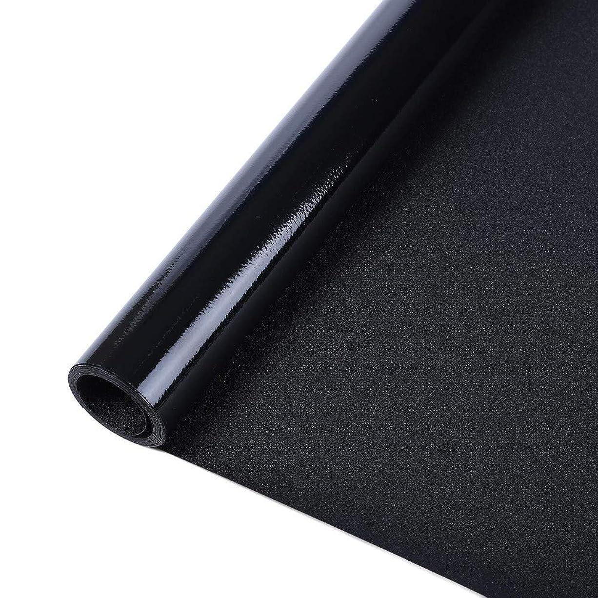 カリング常習者プランターガラスフィルムウィンドウフィルムブラックアウトウィンドウフィルムプライバシーウィンドウクリングダークウィンドウティンティングフィルム非粘着性ウィンドウステッカーライトブロッキング、90x150cm