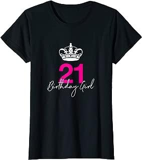 Womens Women's 21st Birthday tshirt for her