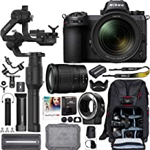 Nikon Z7 Mirrorless Full-Frame Camera Filmmaker's Kit with 24-70mm F4 S Lens + DJI Ronin-S Essentials Kit 3-Axis Handheld Gimbal Stabilizer Bundle + Mount Adapter FTZ + Deco Photo Backpack + Software