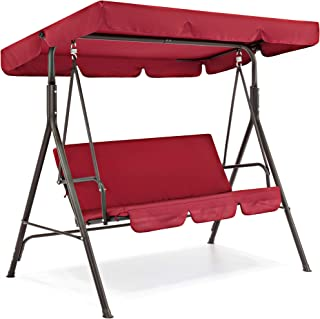 Best Choice Products 2-Person Outdoor Large Convertible Canopy Swing Glider Lounge Chair..