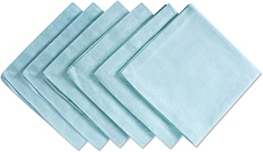 DII CAMZ36960 100% Cotton, Oversized Basic Everyday 20x20 Napkin Set of 6, Chambray Aqua
