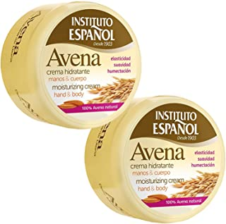 Instituto Espanol Avena Daily Moisturizing Hand & Body Cream 6.8 oz (Pack of 2)