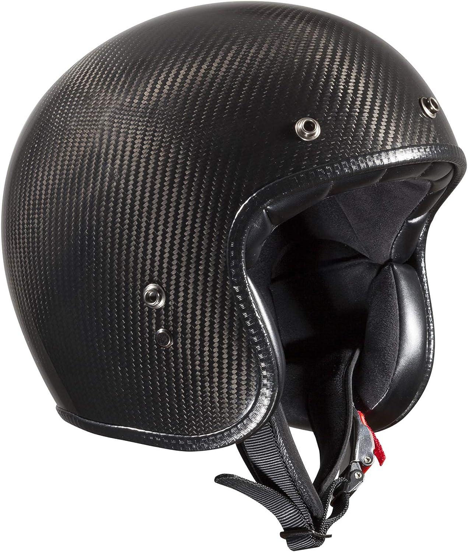 Bandit Helmets Ece Geprüfter Carbon Jethelm Ece 22 05 Motorrad Roller Sports Farbe Carbon Größe Xs 54cm Bekleidung