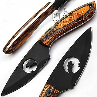 PAL 2000 - 9647 - Cuchillo de chef fabricado a mano en acero 440C recubierto en polvo, con funda de piel
