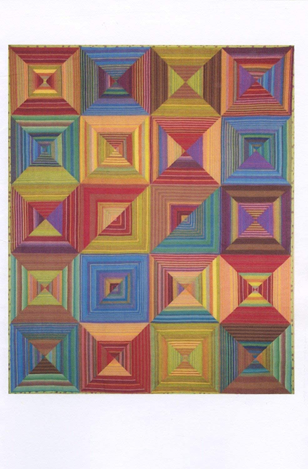 Stripes Squared Quilt Pattern by Aardvark Quilts - 4 sizes - AQ803
