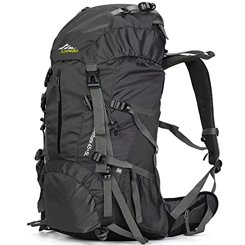 7550fabcf2 Loowoko Hiking Backpack 50L Travel Camping Backpack with Rain Cover