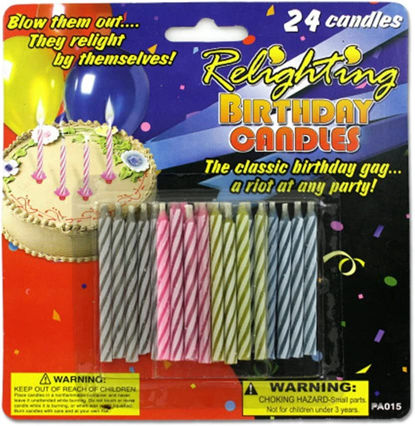 JT Party Max 64% OFF Supplies Candles Birthday Candles-24 Soldering Pack Relighting