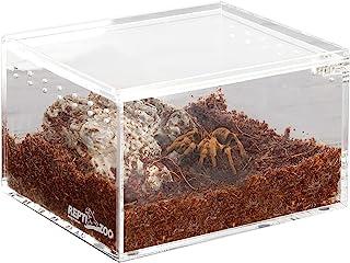 "REPTI ZOO Magnetic Acrylic Case 4.1""x3.3""x2.5"" Nano Enclosure Reptile Breeding Box Terrarium Cage Tank Tarantula Scorpion ..."