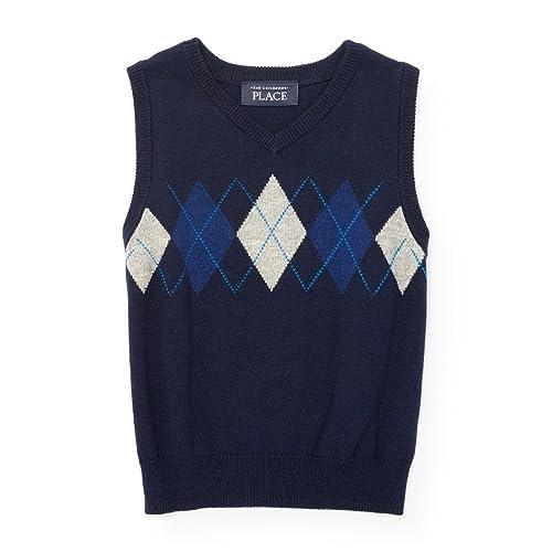 62d798520d0e9 The Children's Place Boys' Toddler Boys' Argyle Sweater Vest