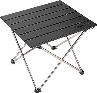 میز تاشو تاشو قابل حمل - میز تاشو تاشو کوچک - میز پیک نیک قابل حمل - میز کوچک آلومینیوم کنار میز آلومینیوم برای دوچرخه سواری ، اردو کوله پشتی ، RV ، ماشین ، مسافرت ، موتور سیکلت ، ماهیگیری