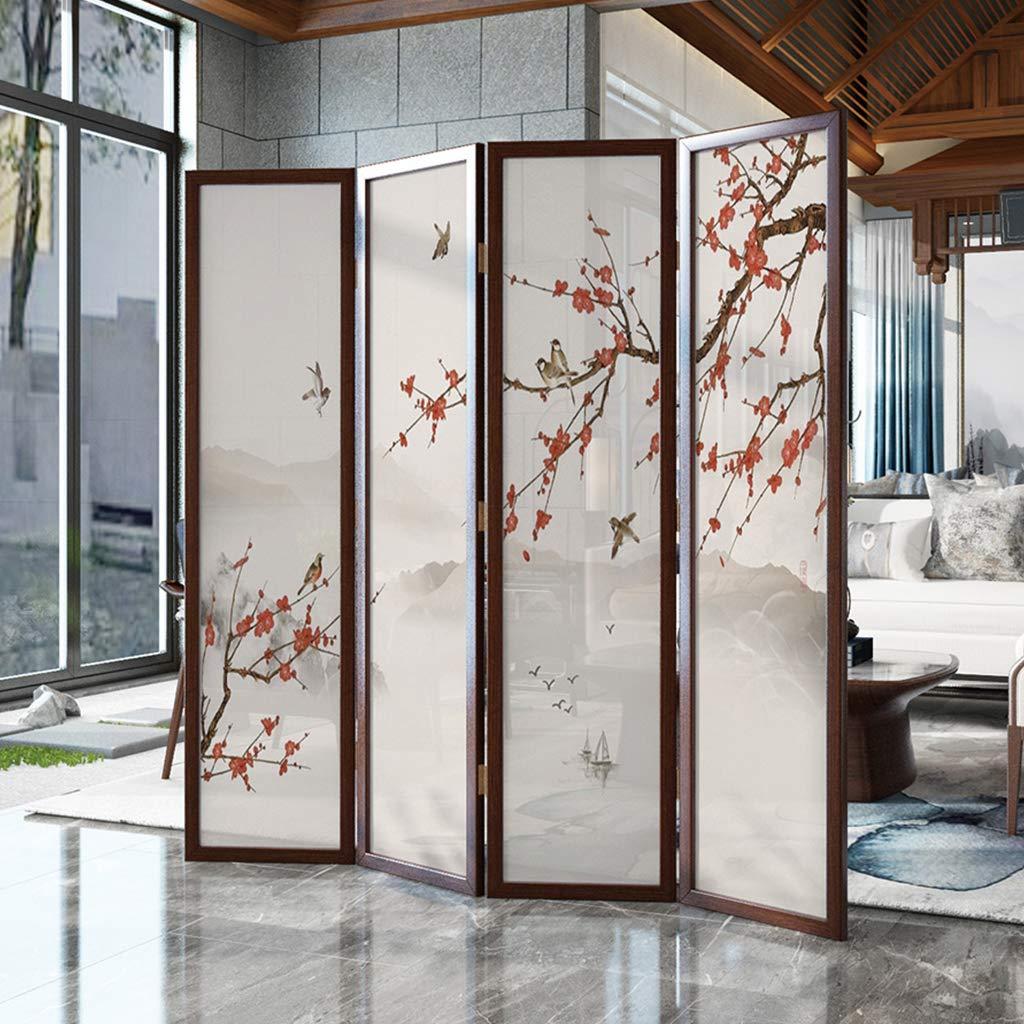 EVEN Separador de habitaciones Muebles de pared, Privacidad, Separador de pantalla de madera maciza china, Sala de estar Dormitorio Oficina Hotel Simple Moderno Plegable Móvil Pantalla plegable: Amazon.es: Hogar