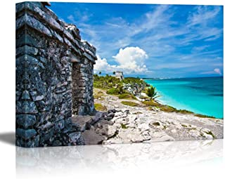 wall26 - Canvas Prints Wall Art - Mexico City, Tulum   Modern Wall Decor/Home Decoration Stretched Gallery Canvas Wrap Giclee Print. Ready to Hang - 32
