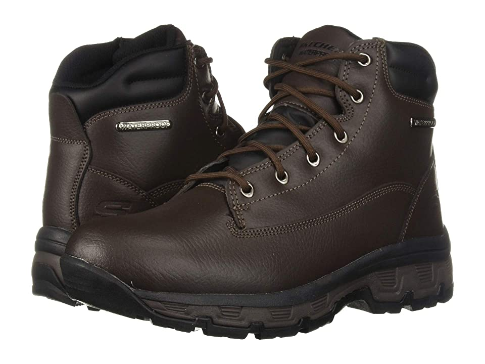 SKECHERS Relaxed Fit Morson Sinatro (Dark Brown) Men