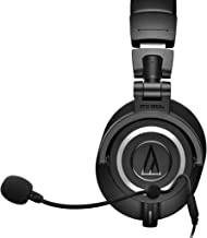 Audio-Technica ATH-M50x Closed Back Dynamic Headphones Bundle with Antlion Audio ModMic 4 with Mute Switch, USB Audio Adapter, and Y Splitter for Audio, Mic