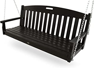 Trex Outdoor Furniture Yacht Club Swing, Charcoal Black