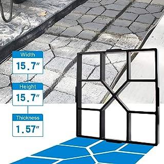 "CJGQ ANOTHERA 15.7""x15.7""x1.57"" Walk Maker Reusable Concrete Path Maker Molds Stepping Stone Paver Lawn Patio Yard Garden DIY Walkway Pavement Paving Moulds (Square)"