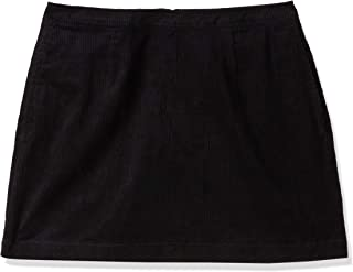 Calvin Klein Straight Mini Skirt for Womens in Black, Size:31inches