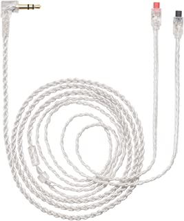 MOKOSE Replacement Upgrade Audio Cable Silver Plated Cord Wire For Audio-Technica ATH-IM50 IM04 IM70 IM01 IM02 IM03 Headphones