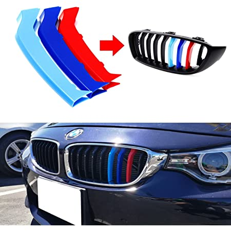 lanyun F32 Grill Stripes M Colors Grille Insert Trims Decorate for BMW 2014-up F32 F33 F36 4 Series w//9-Beam Grill