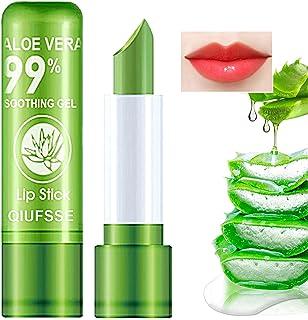 2PCS Aloe Vera Lipstick,QIUFSSE Moisturizing Aloe Lipstick Magic Temperature Color Change Lipstick Lip Balm Lip Stain Long...