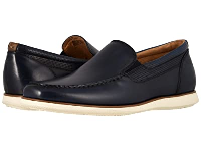 Florsheim Atlantic Moc Toe Venetian Slip-On (Navy Smooth/White Sole) Men