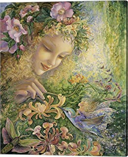 Honeysuckle by Josephine Wall Canvas Art Wall Picture, Gallery Wrap, 16 x 20 inches