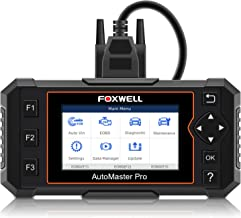 FOXWELL NT614 Elite OBDII Car Diagnostic Scan Tool Transmission Engine ABS Airbag OBD2 Scanner EPB Tool with Service Light Reset Free Carrying Case (NT614 Enhanced 2019 Version)