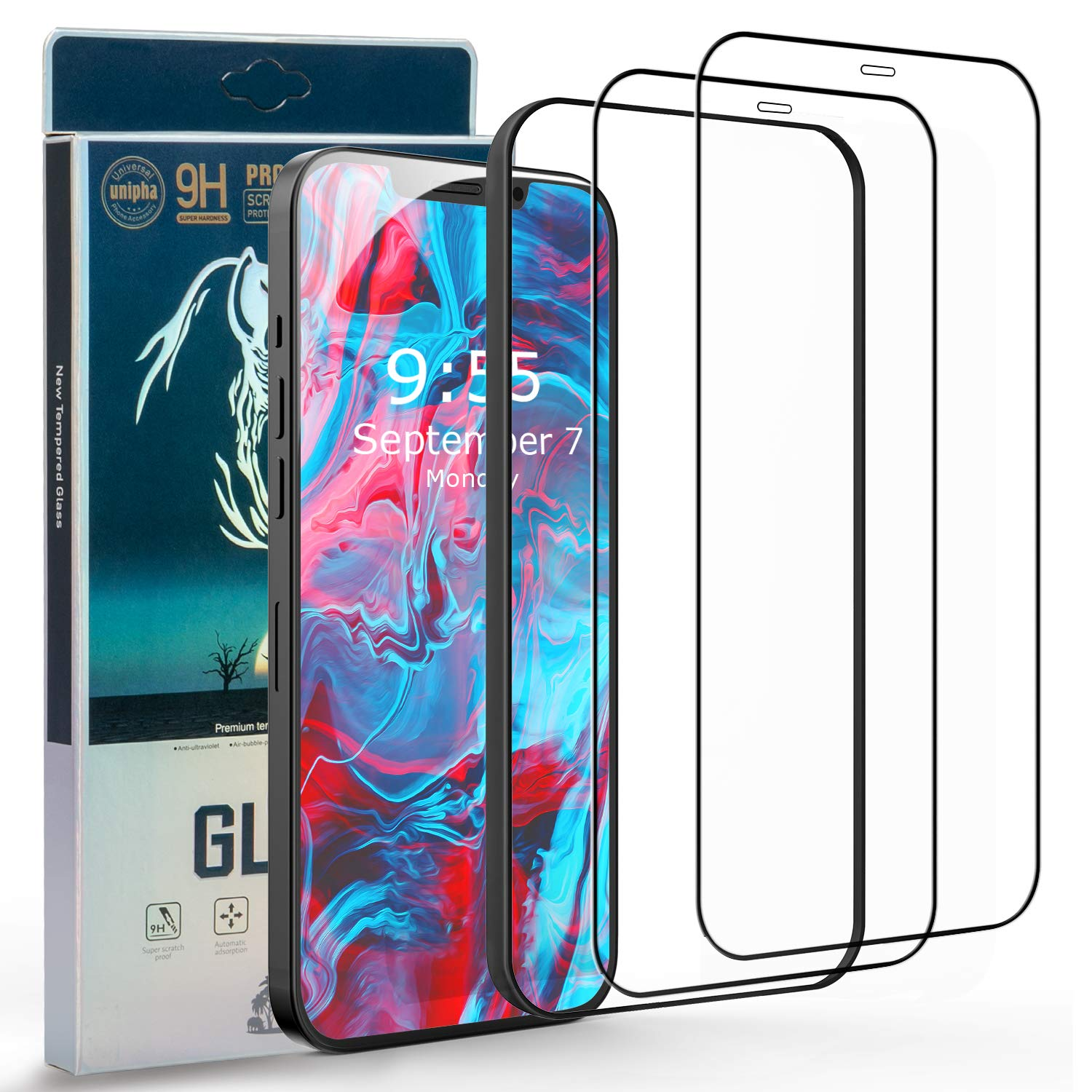 [2 Pack] Screen Protector for iPhone 12 Pro Max, [HD Clear] [Bubble-Free] [Anti-Scratch] [Case Friendly] Tempered Glass Film for iPhone 12 Pro Max 6.7 inch