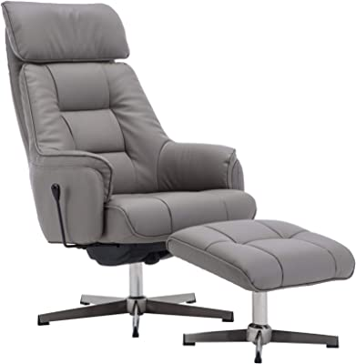 More4homes Sorento Bonded Leather Swivel Recliner Armchair