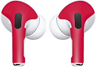 APSkins Skins for AirPods Pro. Protective Wraps Stickers to Cover Air Pods – Compatible Sticker Wrap Decal with Apple Air Pod Pro Accessories (Red)