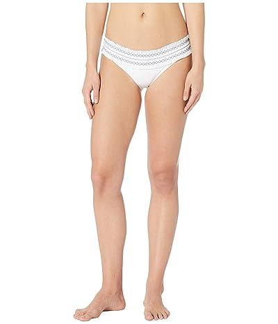 Tory Burch Swimwear Costa Hipster (White/Blue Dusk) Women