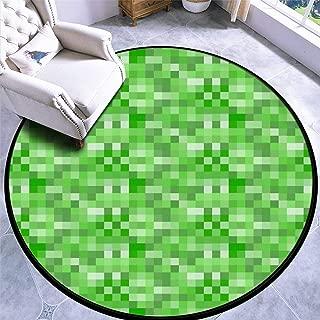 Round Area Rug Kids Carpet Playmat Non-Slip Throw Runner Rug Explosion Indoor Floor Carpet Door Mat for Bedroom Living Room Home Decor