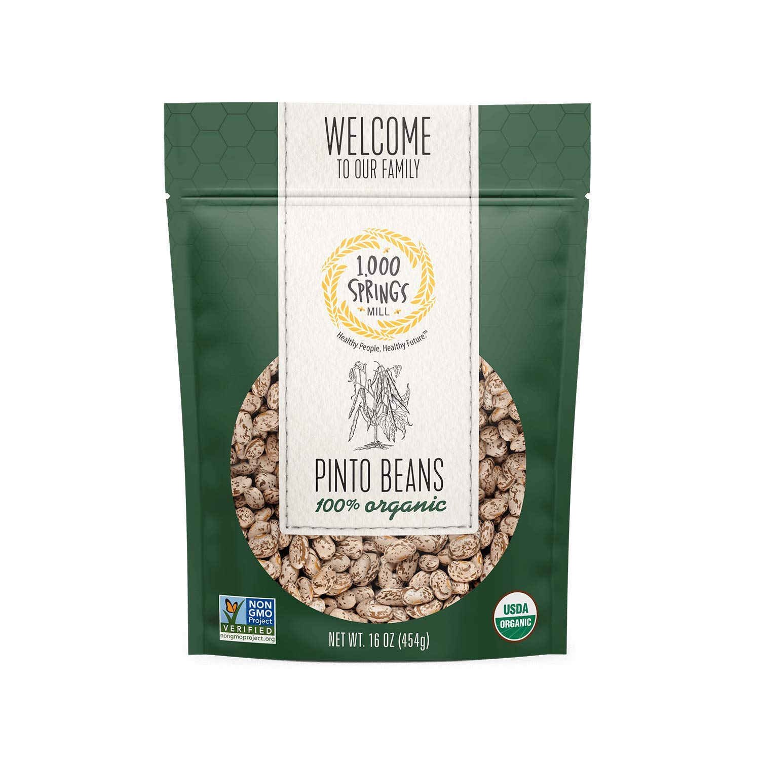 1000 Springs Mill - Organic Pinto for Beans Super popular specialty store Many popular brands Stews Soups Used