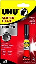 UHU Super Glue Ultra Fast Liquid 3ml, (33-40820)