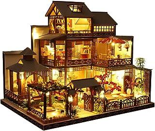 Music Box Musical Boxes خشب الموسيقى مربع، أطقم بناء مربع الموسيقى مع أضواء LED - لغز خشبي 3D لعيد الميلاد/عيد ميلاد/فالنت...