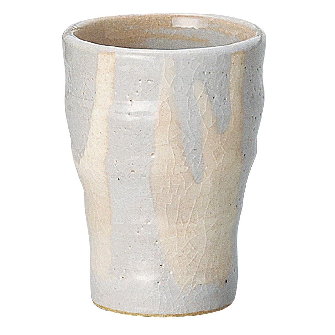 クリークシャーロックホームズ取得宗峰窯 陶器 タンブラー 美濃 萩流 ゴブレット 230cc 353-10-453