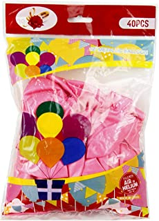"""Rosymoment 12"""" Solid Metallic Latex Pink Color Balloons (Pack Of 40 ),2724650183552"""