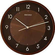 SEIKO Plastic Wall Clock (Brown_1.7 Inch X 11.8 Inch X 11.8 Inch)