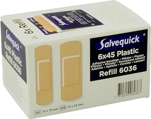Salvequick Pflasterspender Und Refill Verschiedene Sorten Karton á 6 Refills Dunkelblau Wasserfest Ref 6036 Drogerie Körperpflege