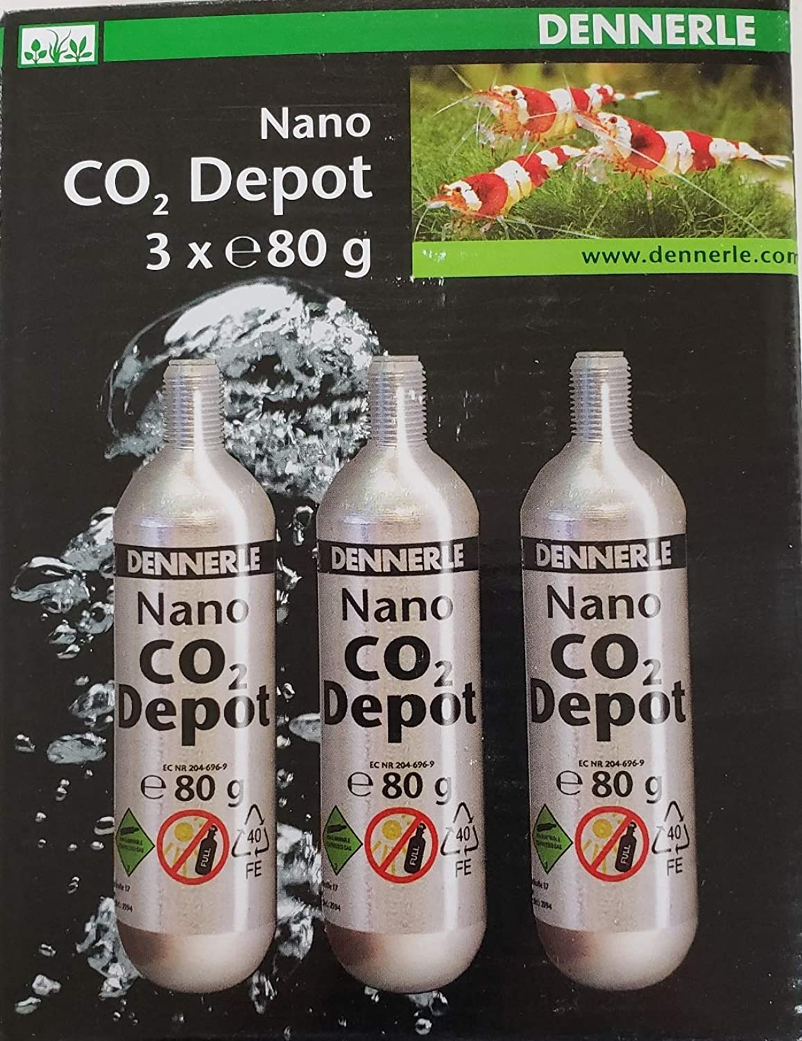Dennerle 3 Pack Replacement Cartridge 80g  CO2 Nano Depot