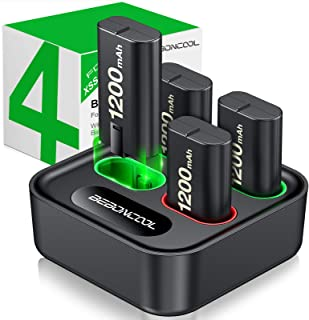 Charger for Xbox One Controller Battery Pack, with 4 x 1200mAh Rechargeable Xbox One Battery Charger Charging Kit for Xbox...