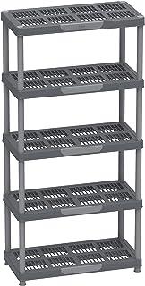 Cosmoplast 5 Tiers Shelving Storage Rack, Grey Mix