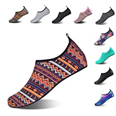 31bcba1111688 HMIYA Aqua Socks Beach Water Shoes Barefoot Yoga Socks Quick- .