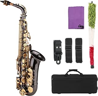 Key Type Woodwind Instrument Brass Saxophone Golden Carve Pattern Bb Althorn Soprano Saxophone Sax with Case Gloves Cleani...